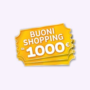 In palio 3 buoni shopping mille euro
