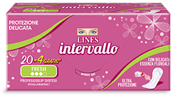 Pacchetto proteggislip LINES Intervallo Fresh disteso