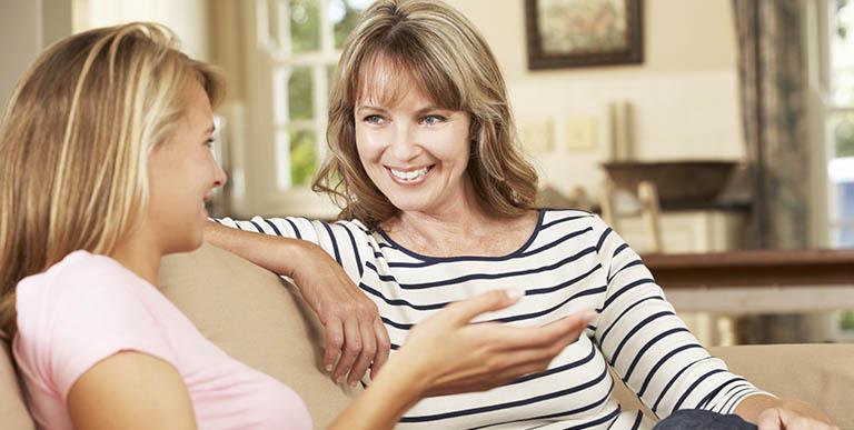 Dialogo tra mamma e figlia