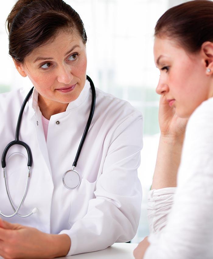 Donna dal medico